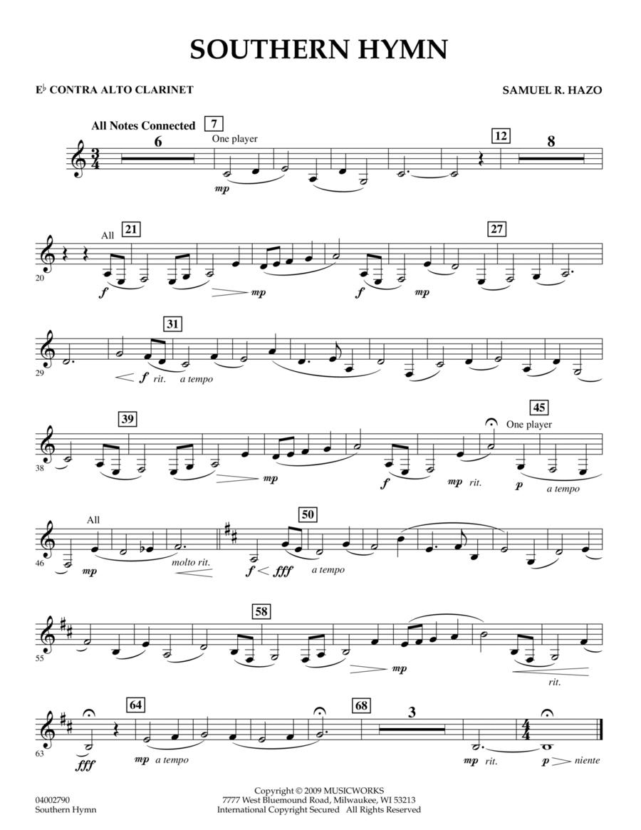 Southern Hymn - Eb Contra Alto Clarinet