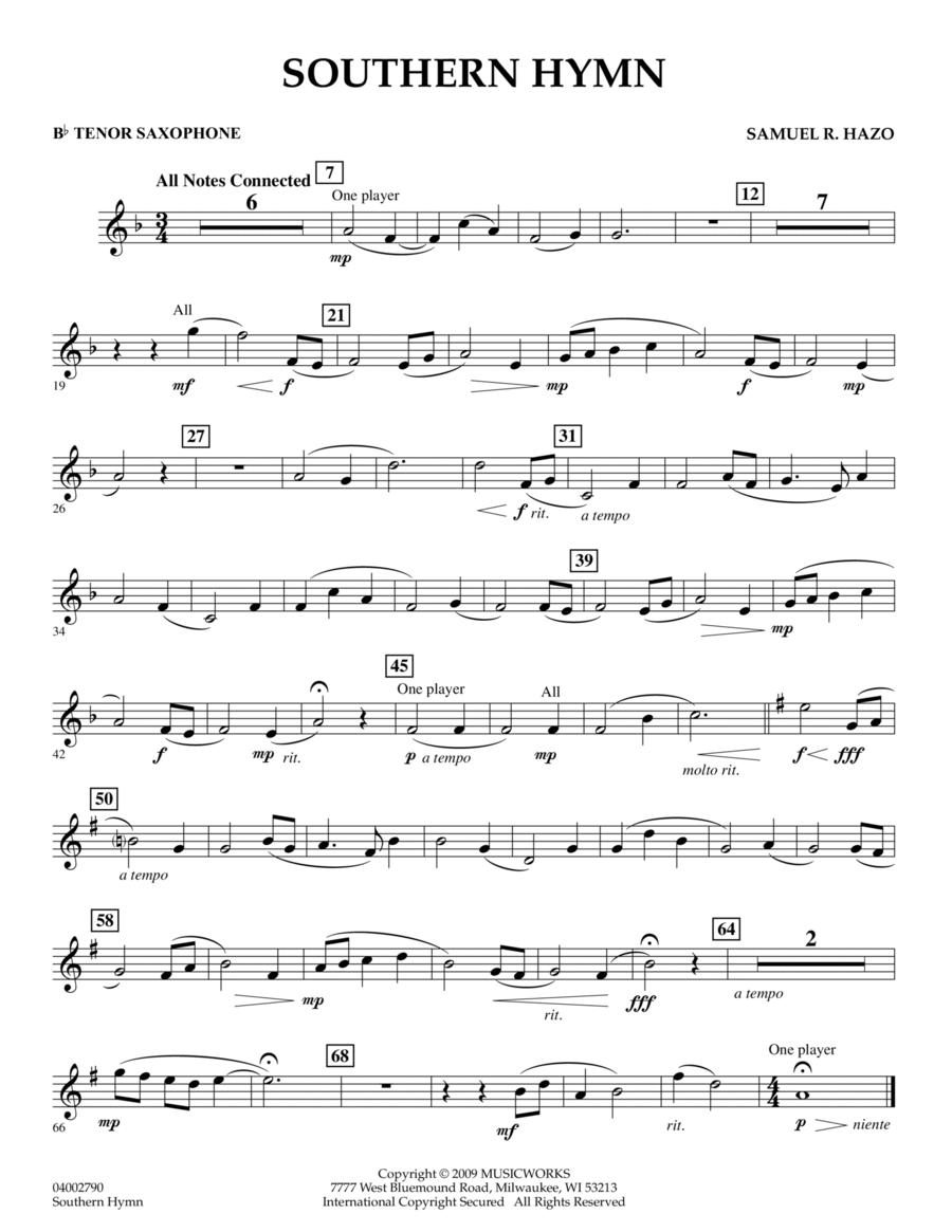 Southern Hymn - Bb Tenor Saxophone