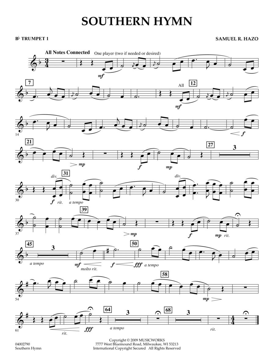 Southern Hymn - Bb Trumpet 1