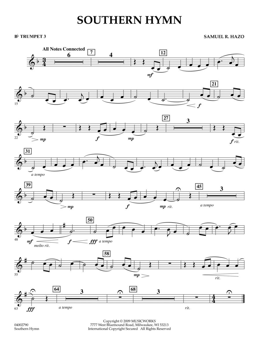 Southern Hymn - Bb Trumpet 3