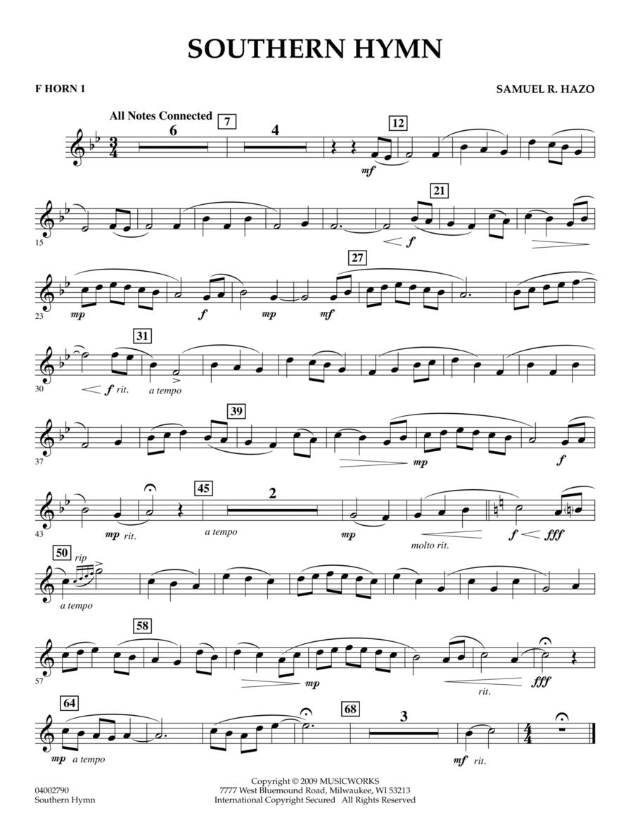 Southern Hymn - F Horn 1