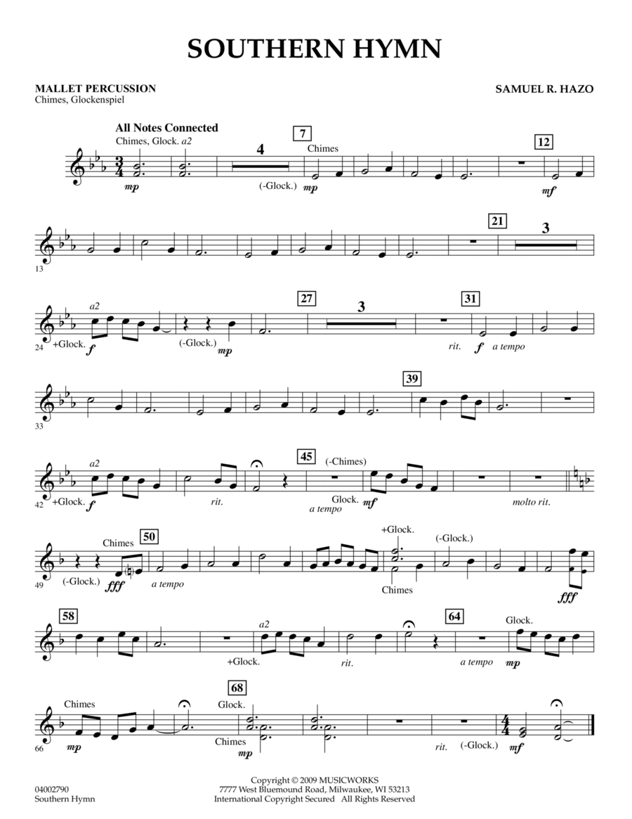 Southern Hymn - Mallet Percussion