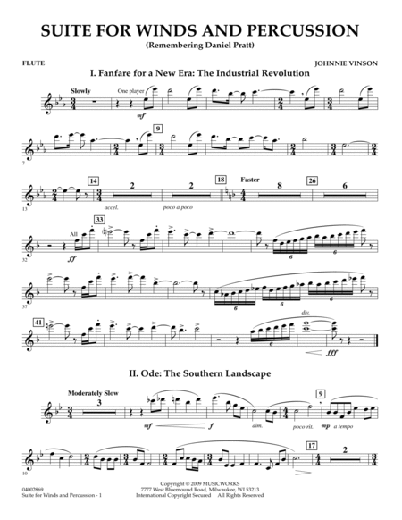 Suite for Winds and Percussion - Flute