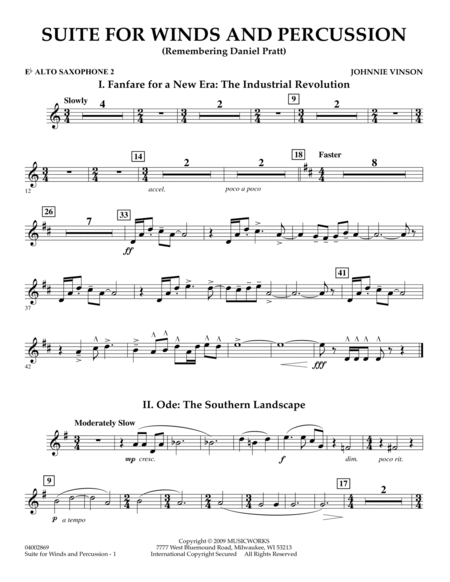 Suite for Winds and Percussion - Eb Alto Saxophone 2