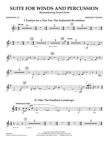 Suite for Winds and Percussion - Baritone T.C.