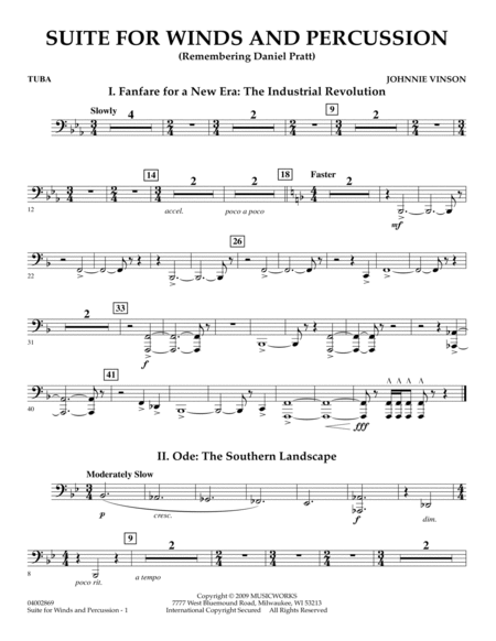 Suite for Winds and Percussion - Tuba