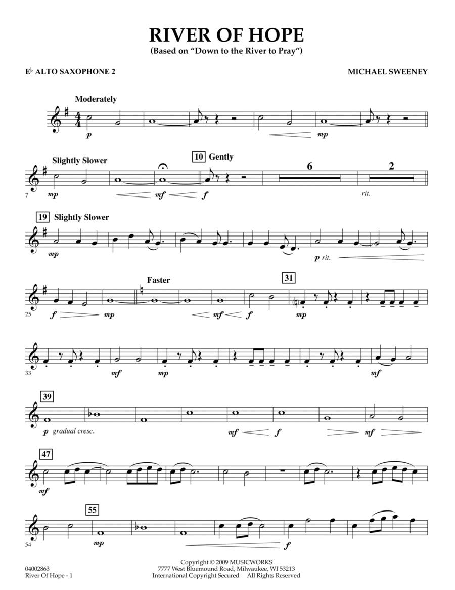 River of Hope - Eb Alto Saxophone 2