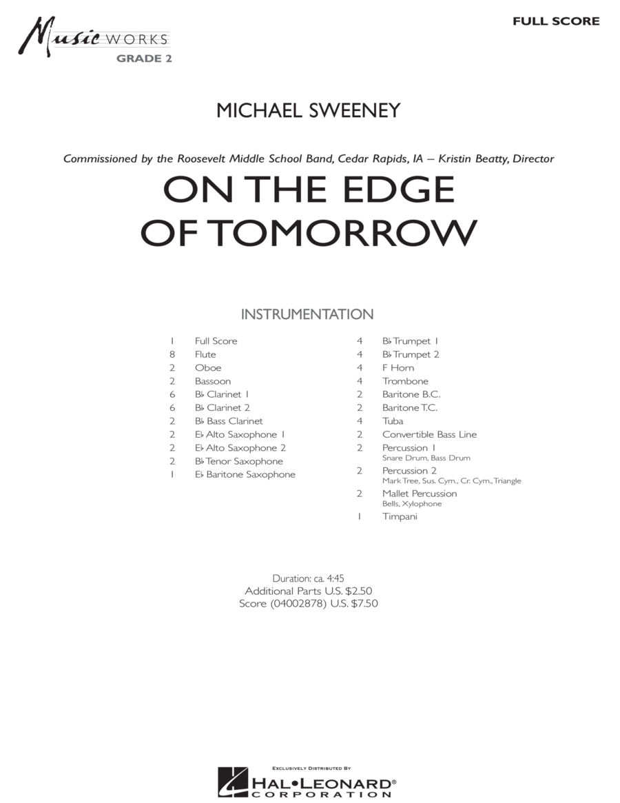 On the Edge of Tomorrow - Full Score
