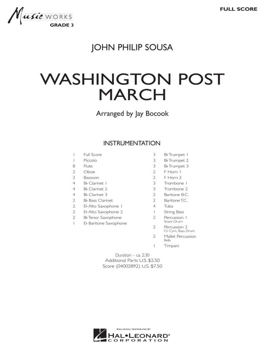 Washington Post March - Full Score