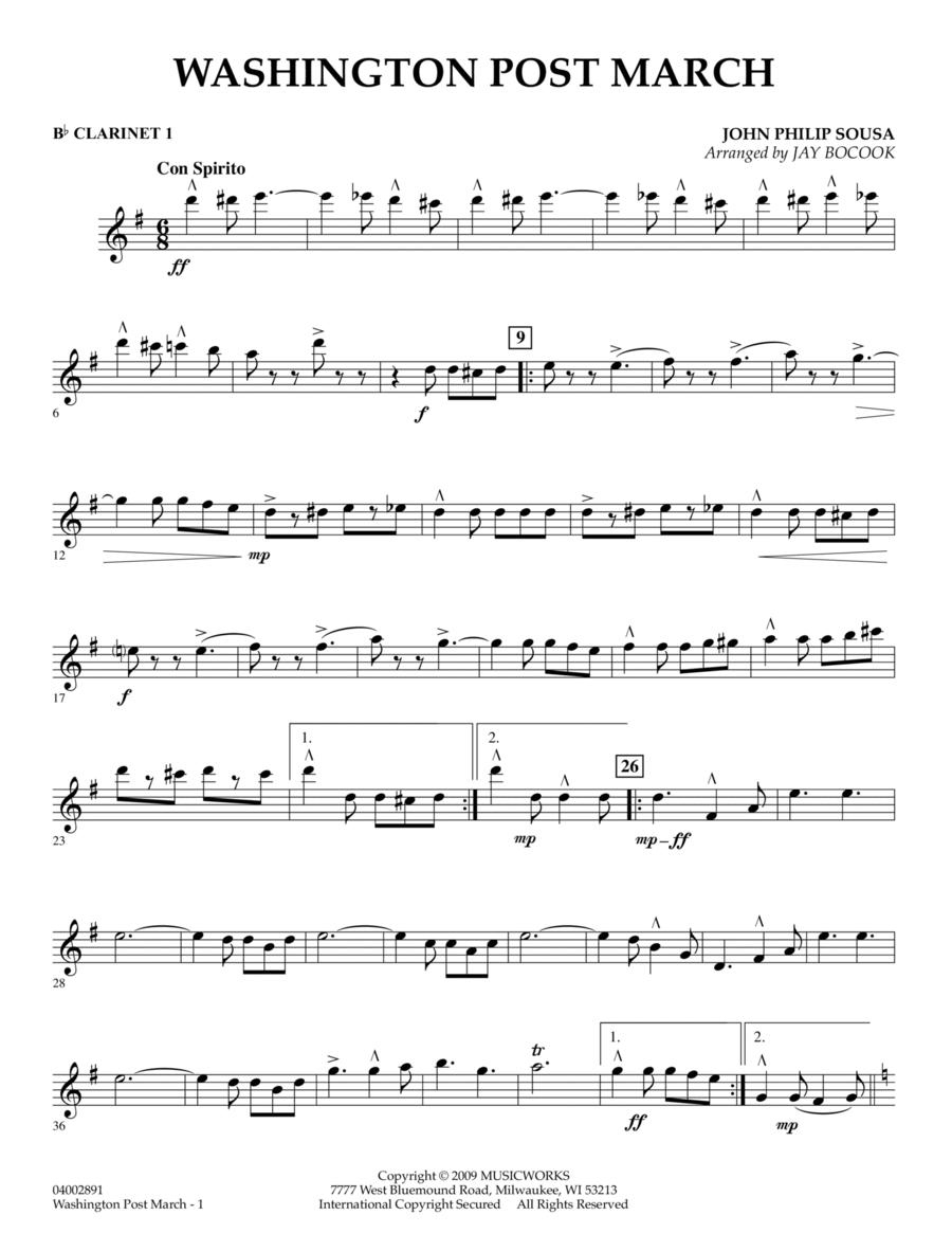 Washington Post March - Bb Clarinet 1