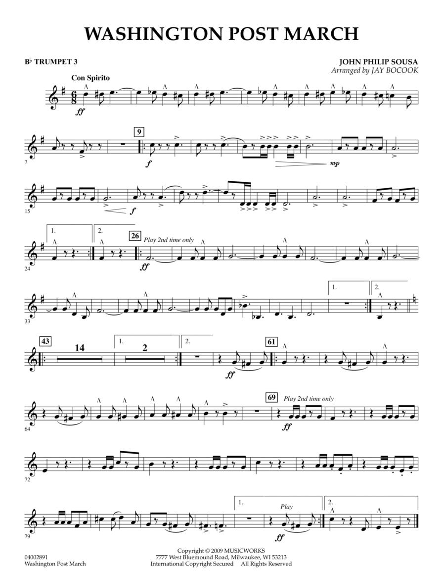 Washington Post March - Bb Trumpet 3