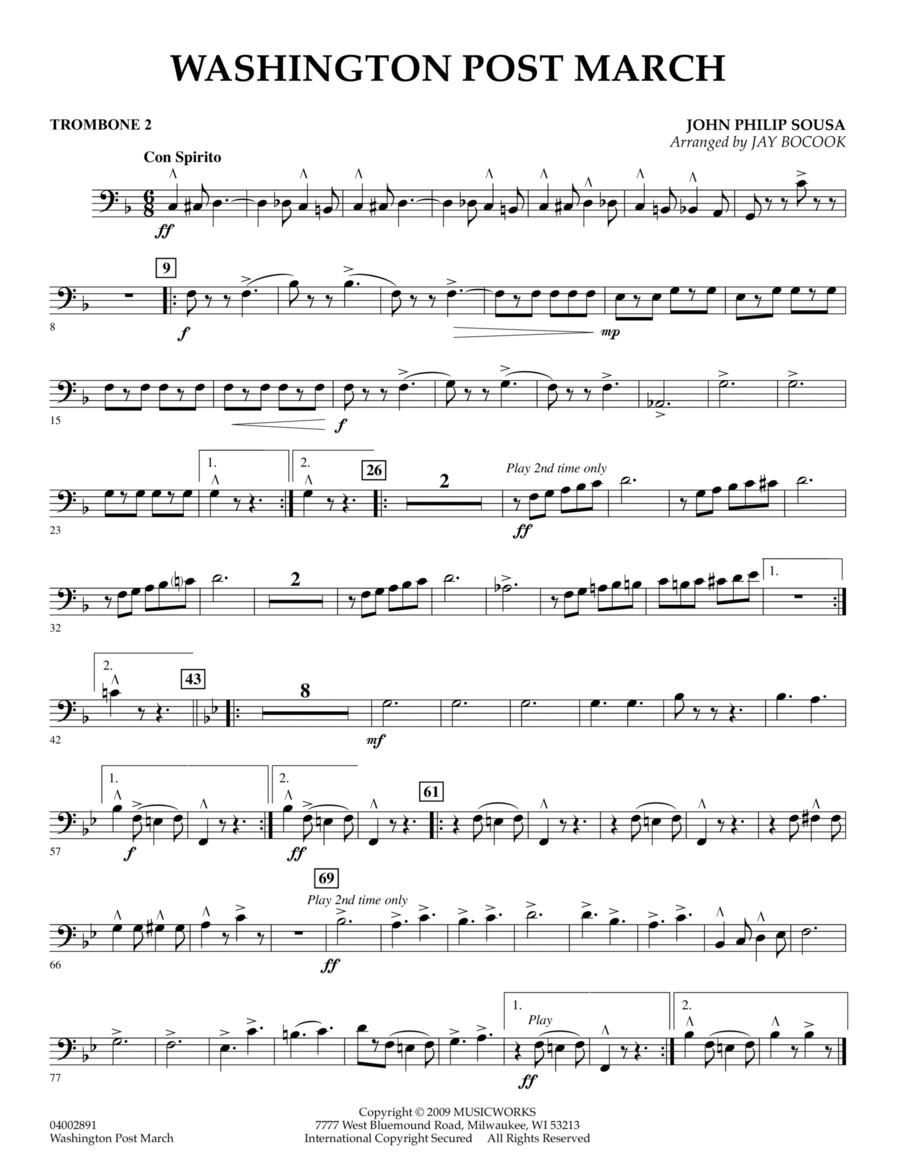 Washington Post March - Trombone 2