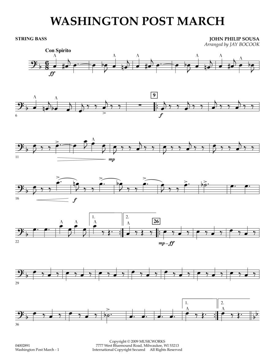 Washington Post March - String Bass
