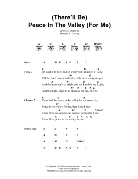 (There'll Be) Peace In The Valley (For Me)