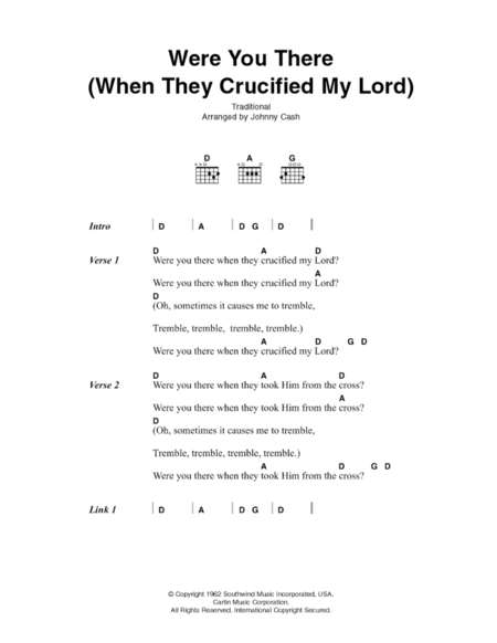 Were You There (When They Crucified My Lord)