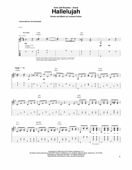 Ukulele : ukulele tablature for hallelujah Ukulele Tablature For ...