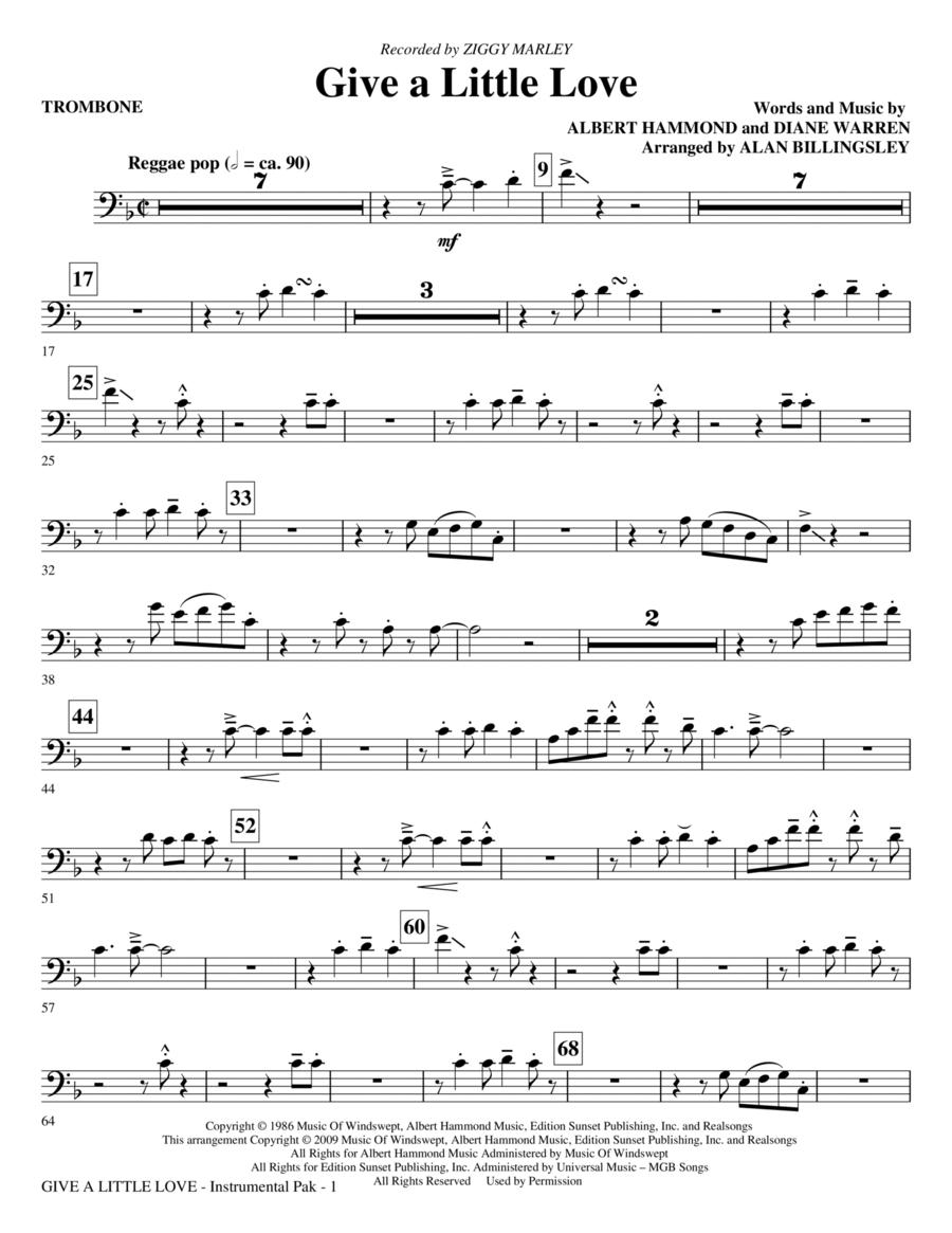 Give A Little Love - Trombone