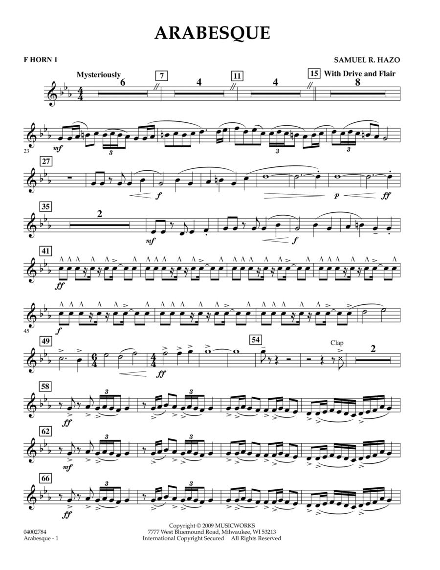Arabesque - F Horn 1