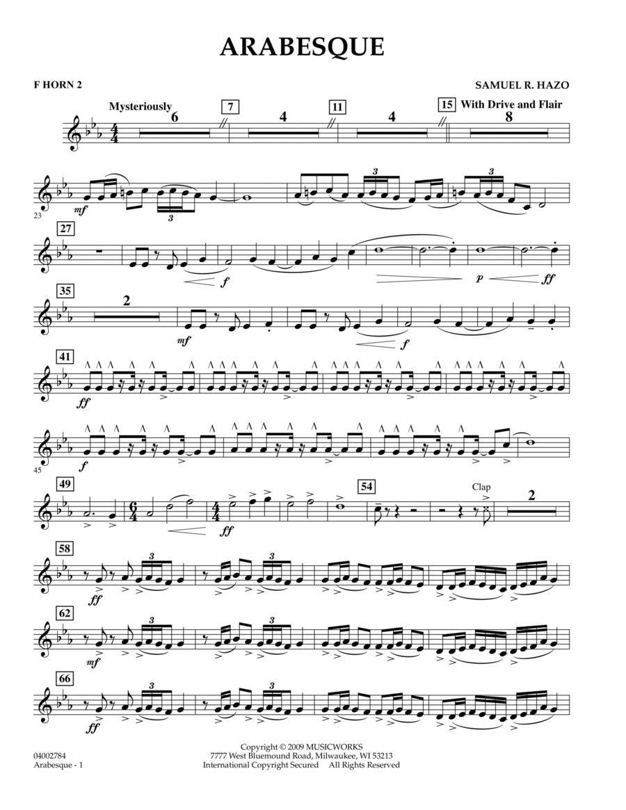Arabesque - F Horn 2