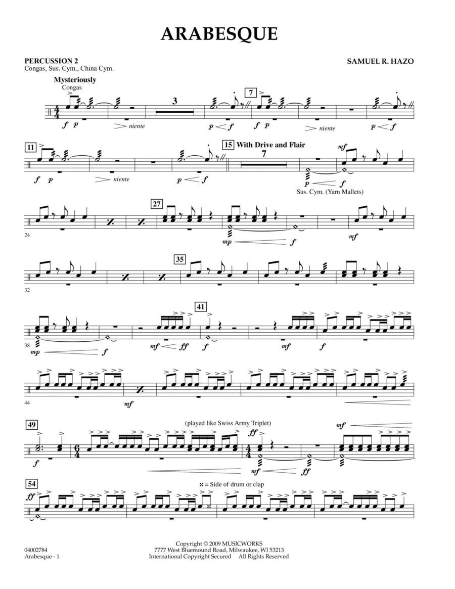 Arabesque - Percussion 2