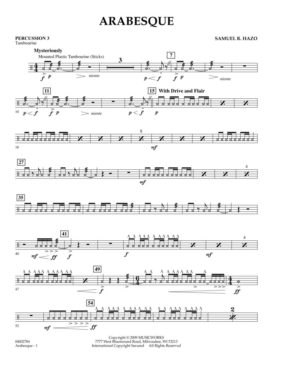 Arabesque - Percussion 3