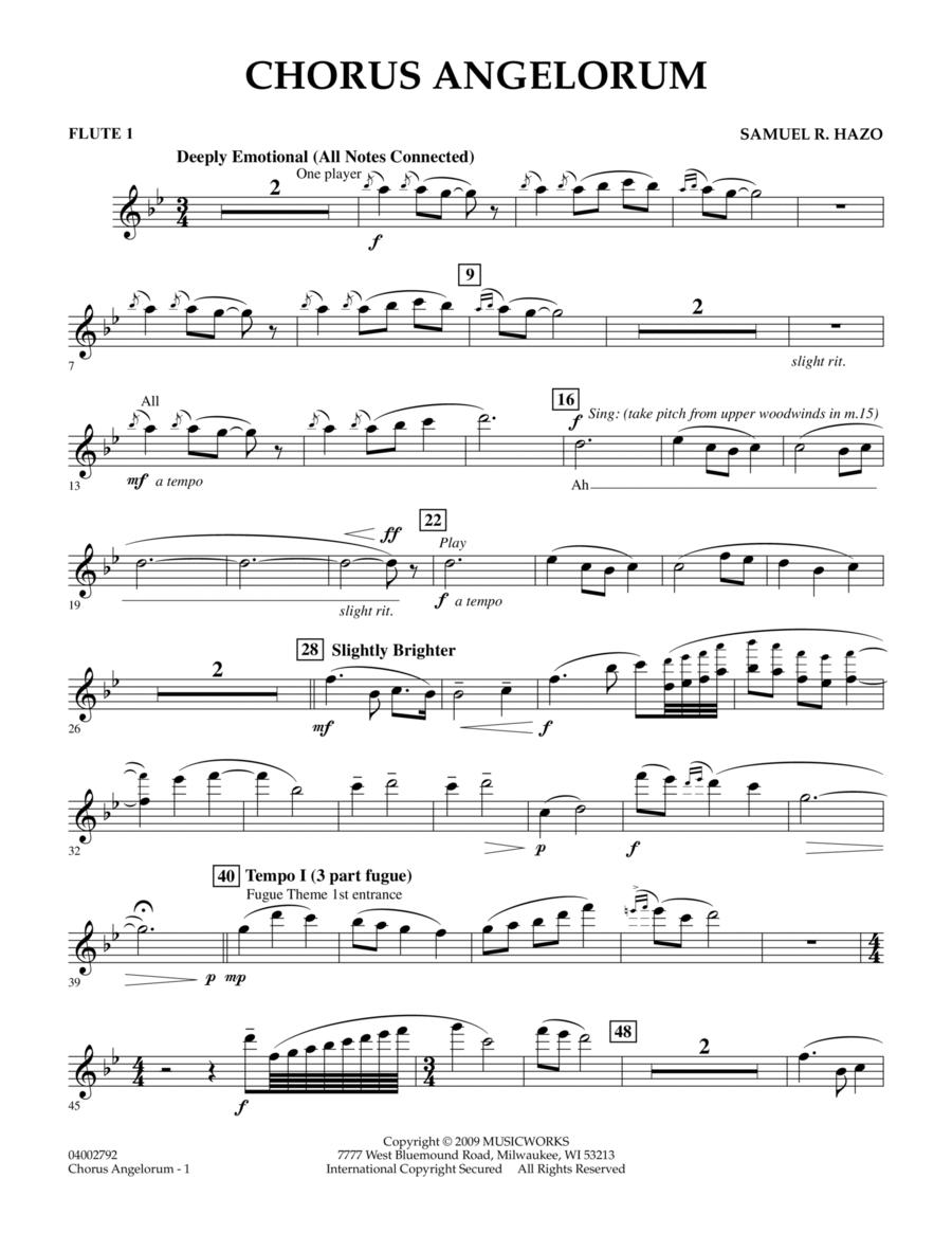 Chorus Angelorum - Flute 1