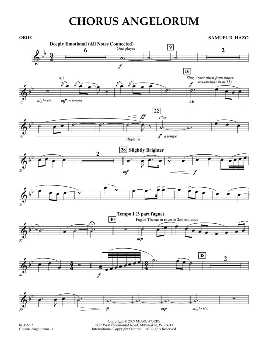 Chorus Angelorum - Oboe