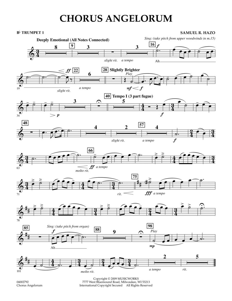 Chorus Angelorum - Bb Trumpet 1