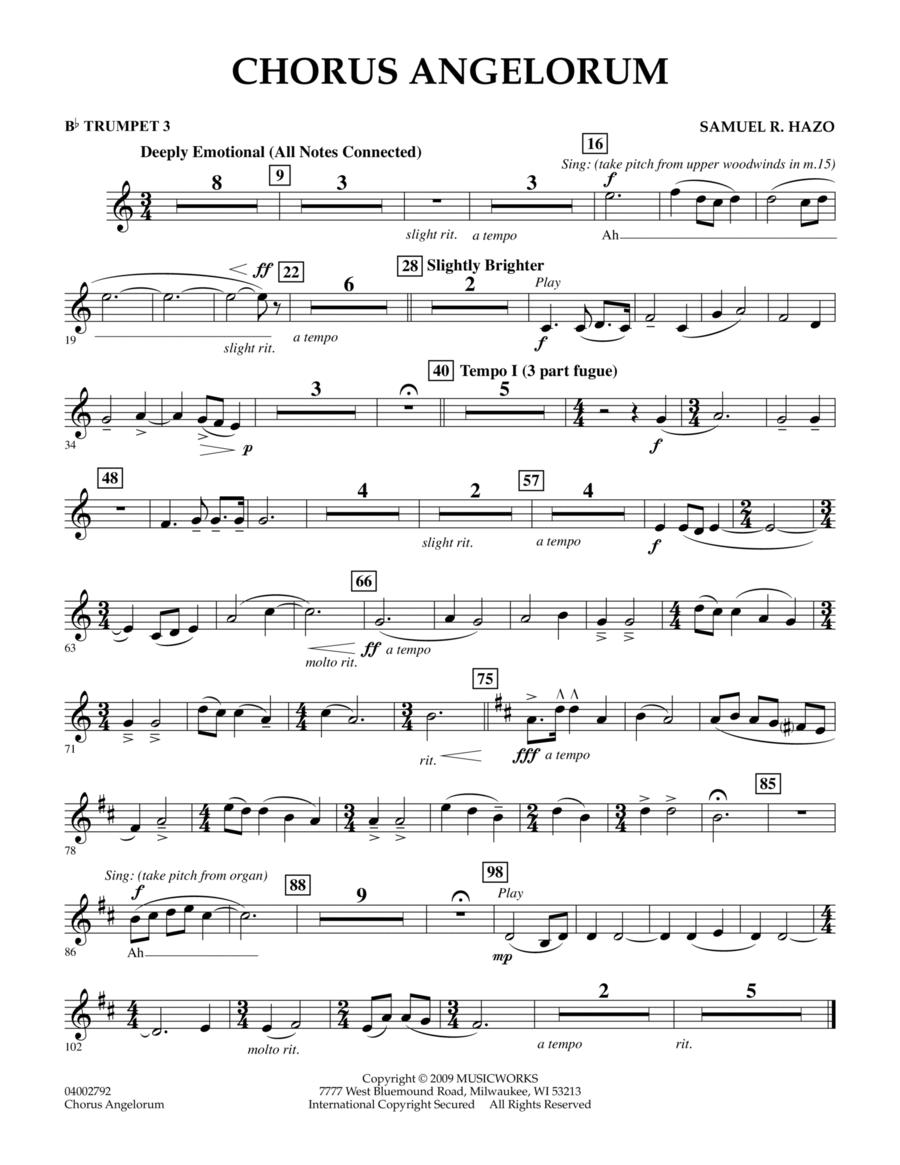 Chorus Angelorum - Bb Trumpet 3