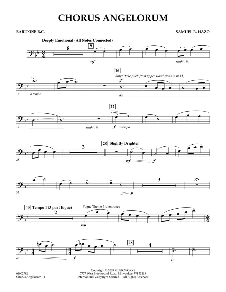 Chorus Angelorum - Baritone B.C.