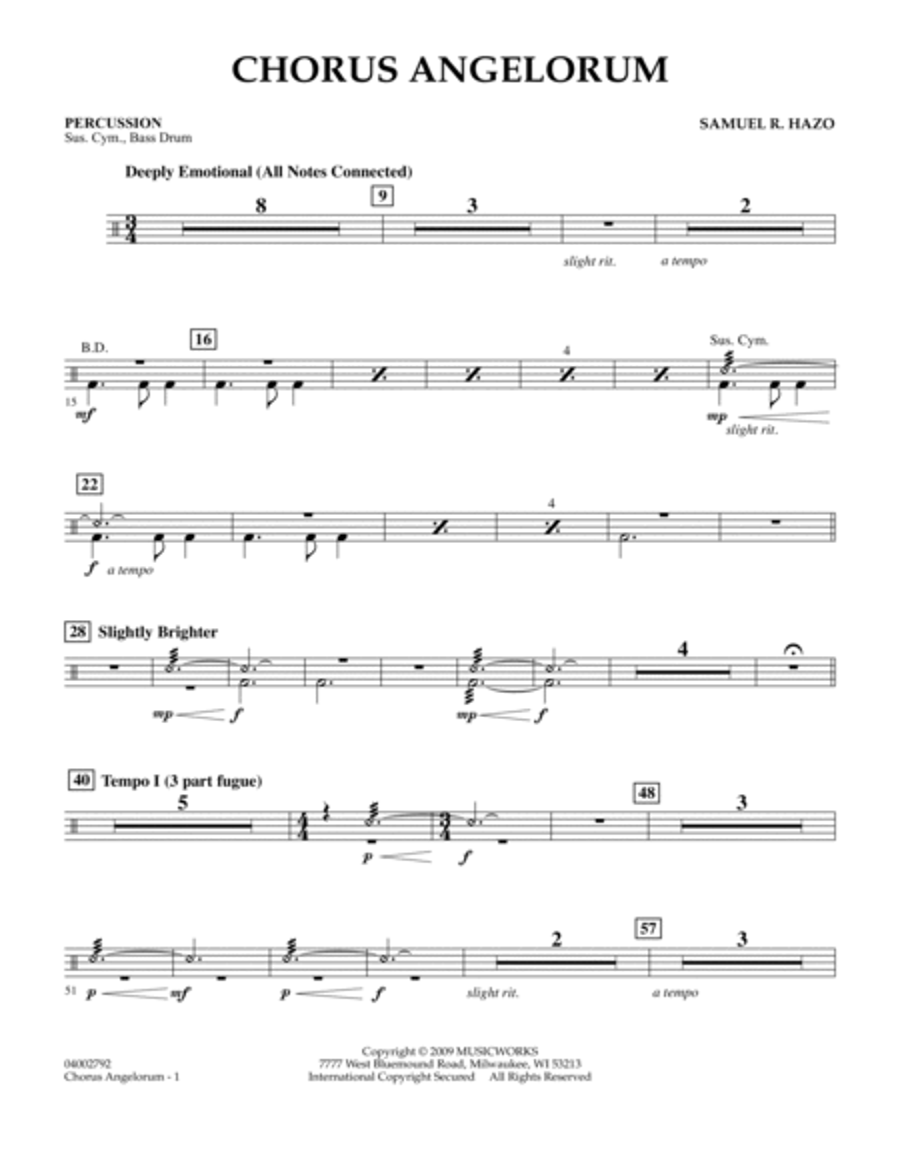 Chorus Angelorum - Percussion