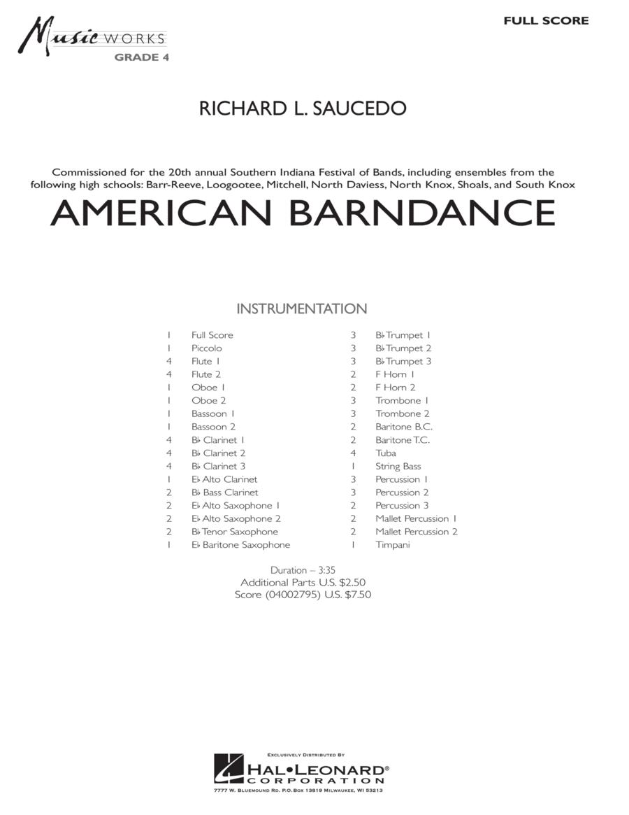 American Barndance - Full Score