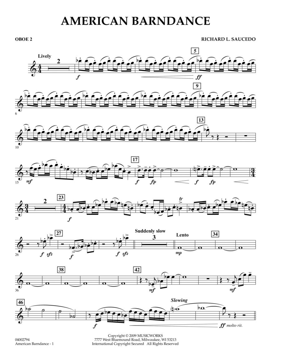 American Barndance - Oboe 2