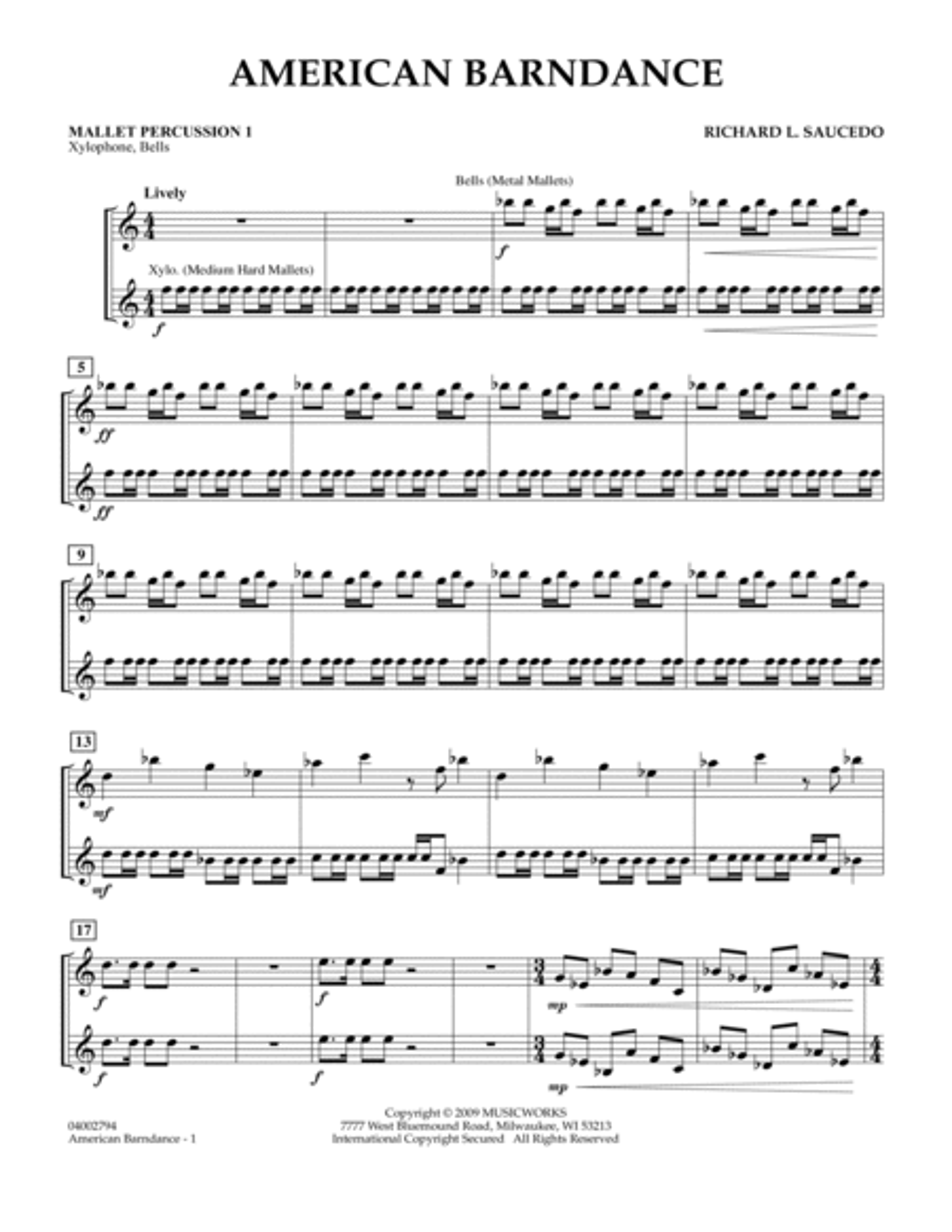 American Barndance - Mallet Percussion 1