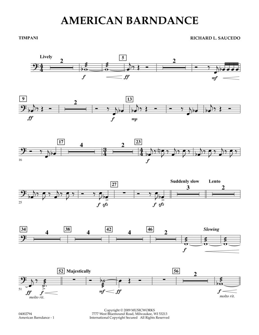 American Barndance - Timpani