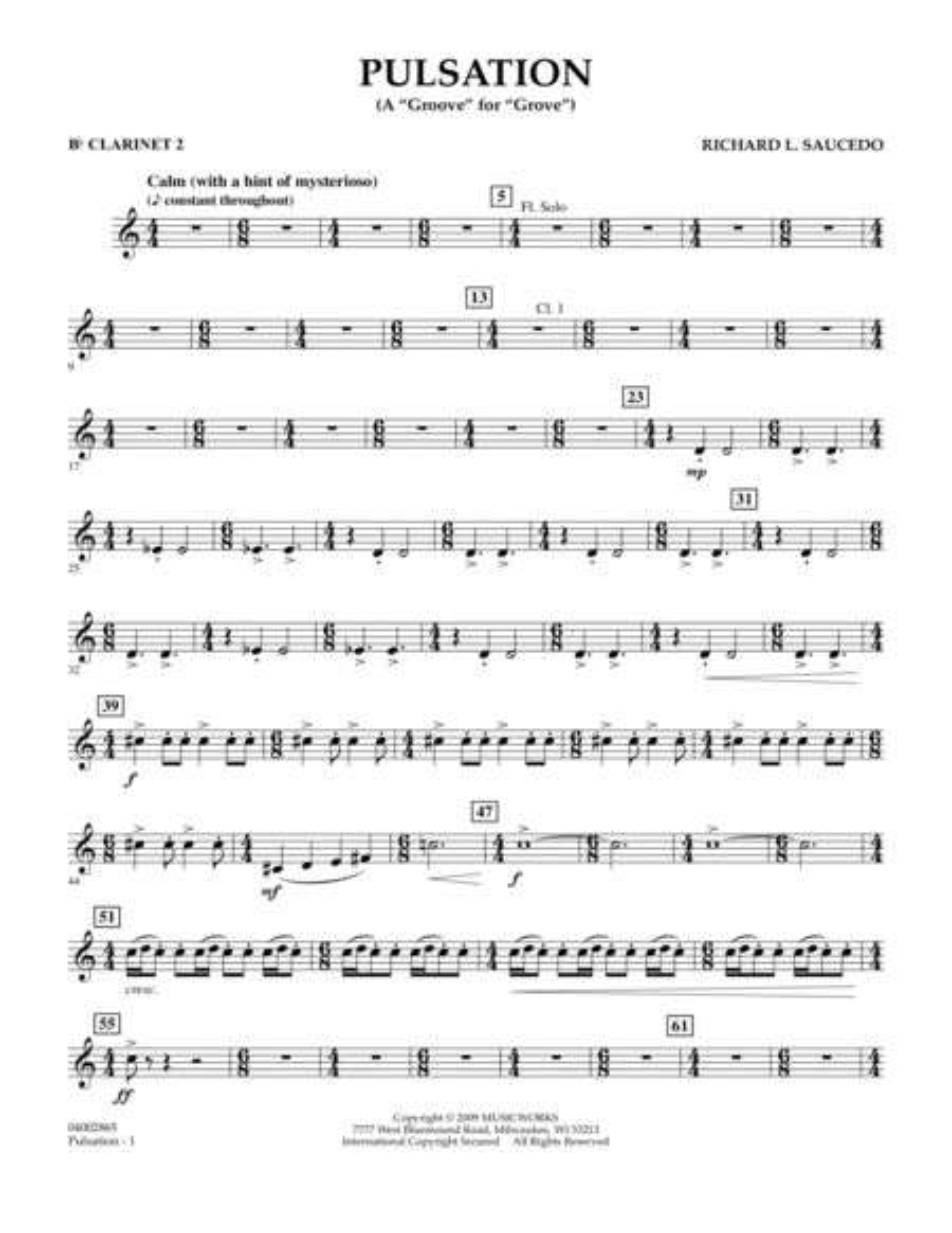 Pulsation - Bb Clarinet 2
