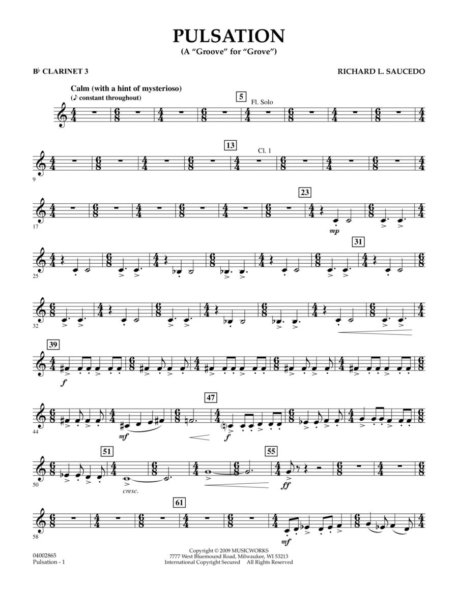 Pulsation - Bb Clarinet 3
