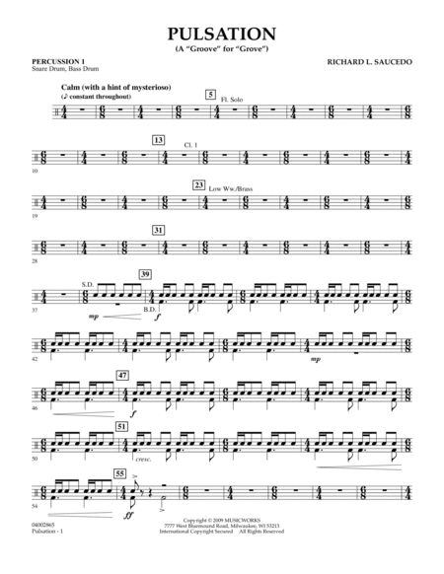 Pulsation - Percussion 1