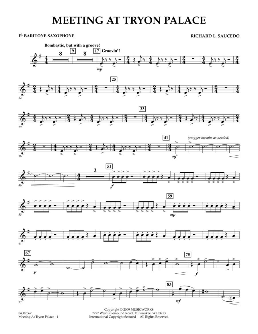 Meeting at Tryon Palace - Eb Baritone Saxophone