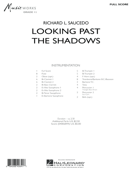 Looking Past the Shadows - Full Score