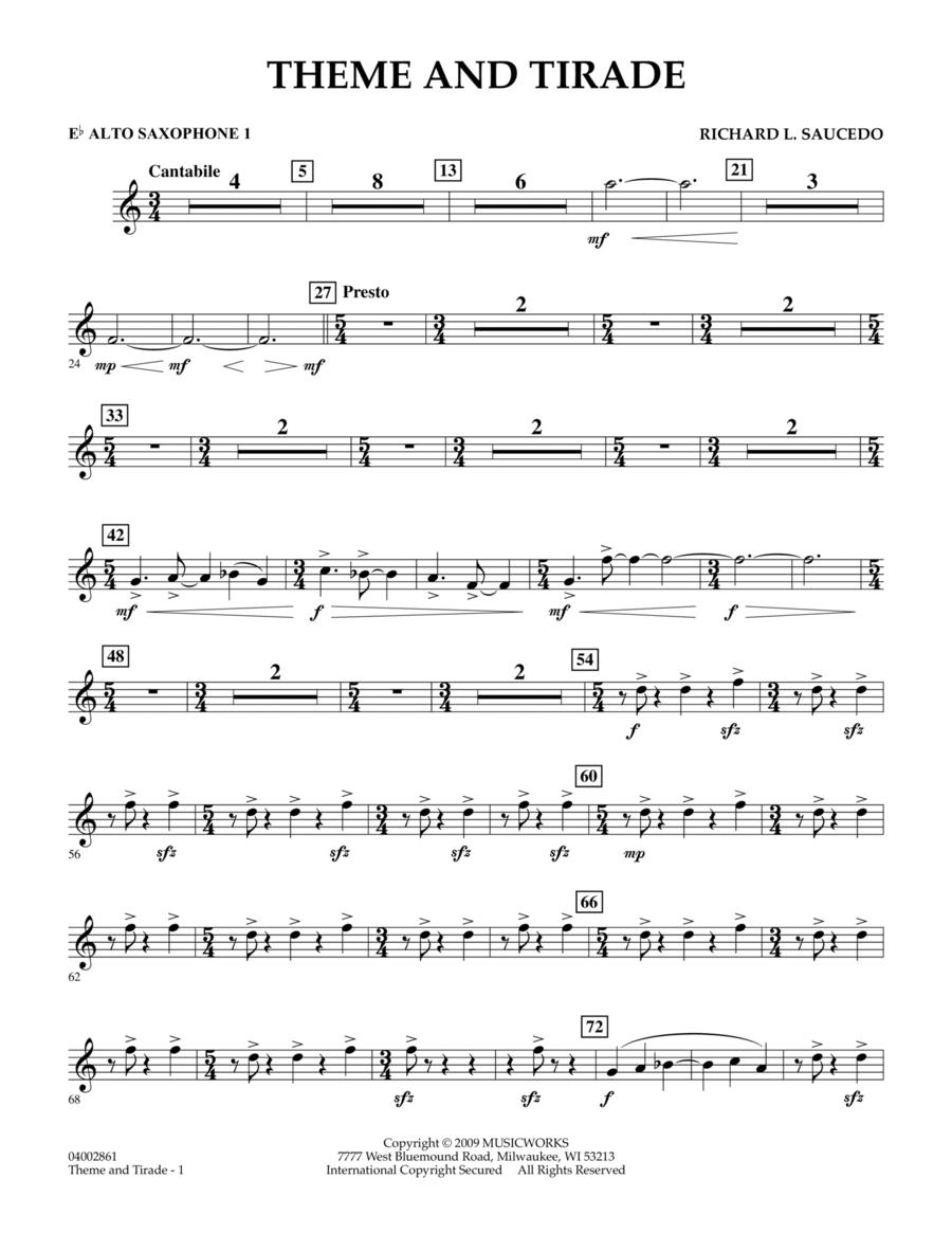 Theme and Tirade - Eb Alto Saxophone 1