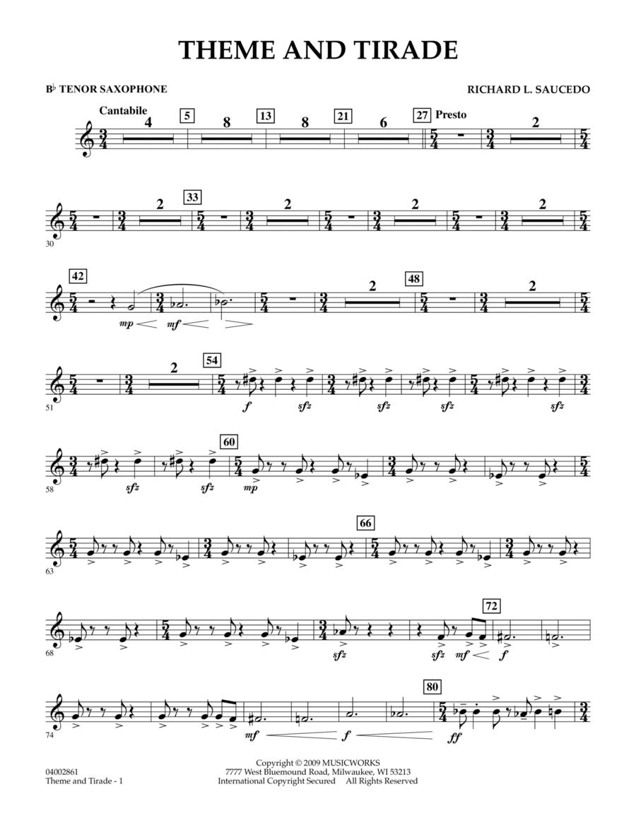 Theme and Tirade - Bb Tenor Saxophone