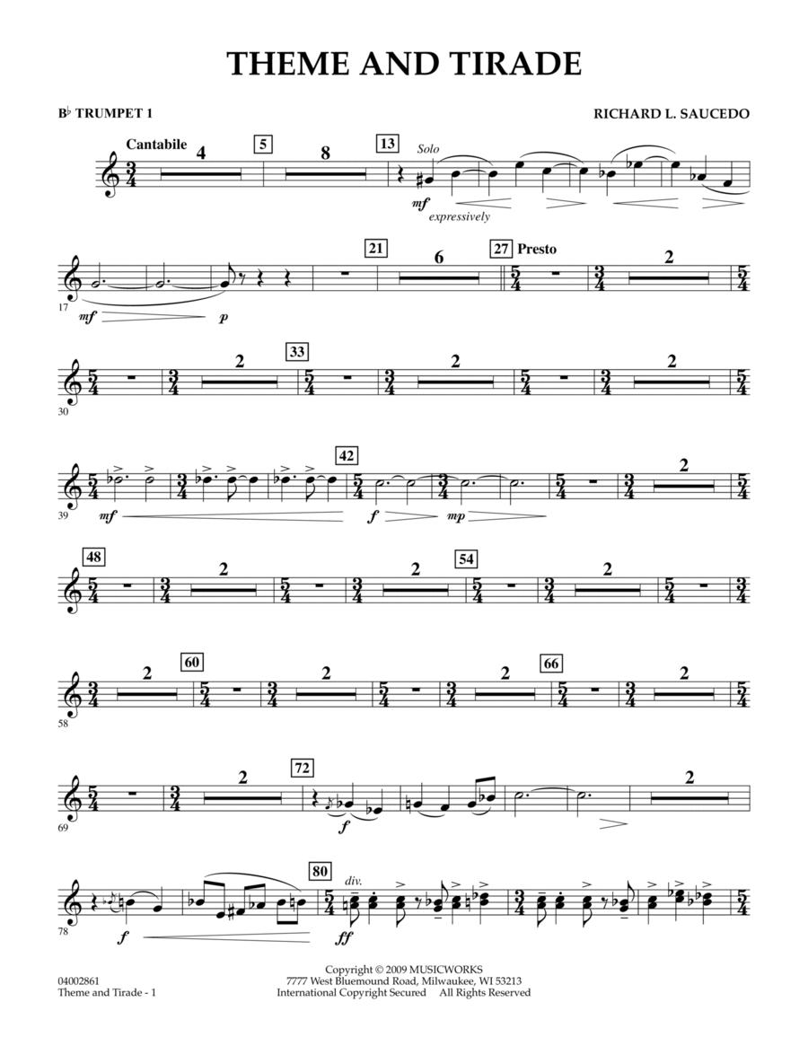 Theme and Tirade - Bb Trumpet 1