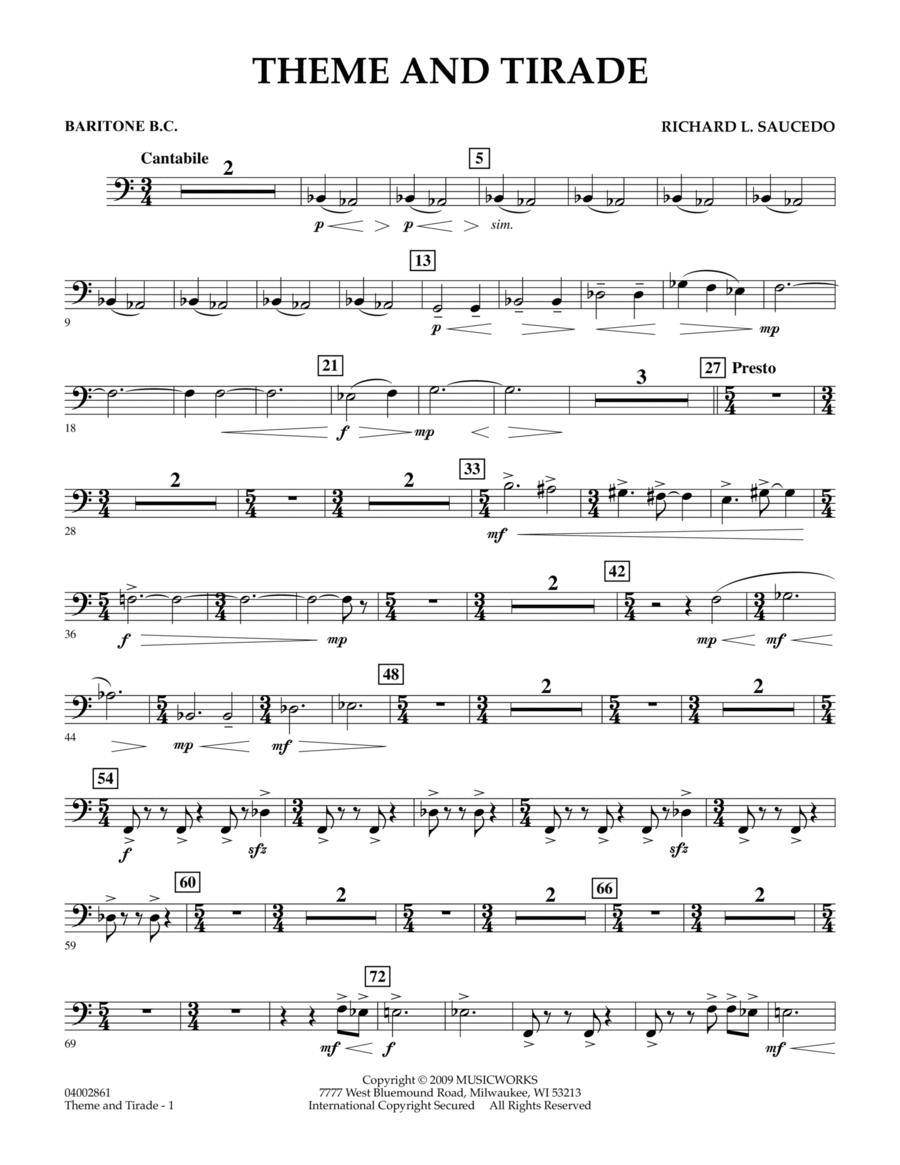 Theme and Tirade - Baritone B.C.