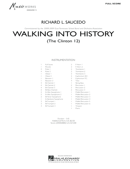 Walking into History (The Clinton 12) - Full Score