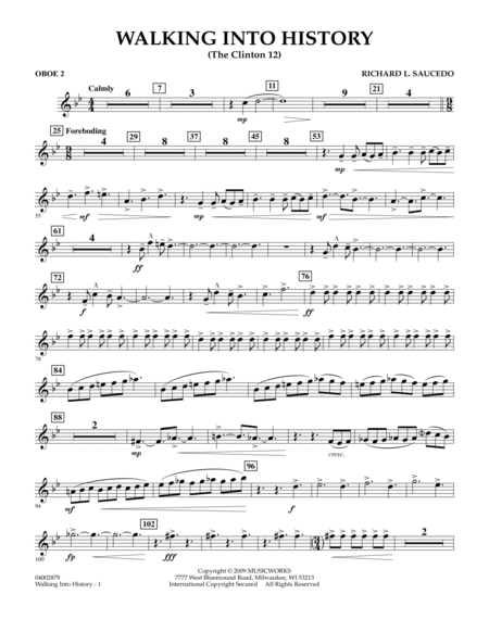 Walking into History (The Clinton 12) - Oboe 2