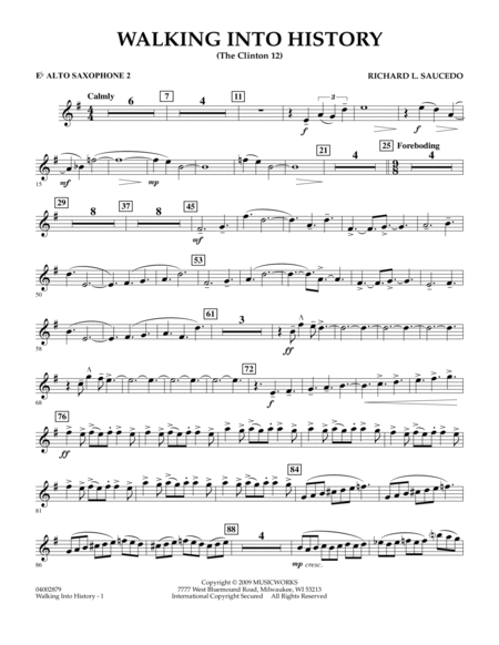 Walking into History (The Clinton 12) - Eb Alto Saxophone 2