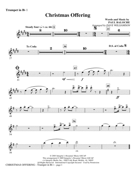 Christmas Offering - Trumpet 1