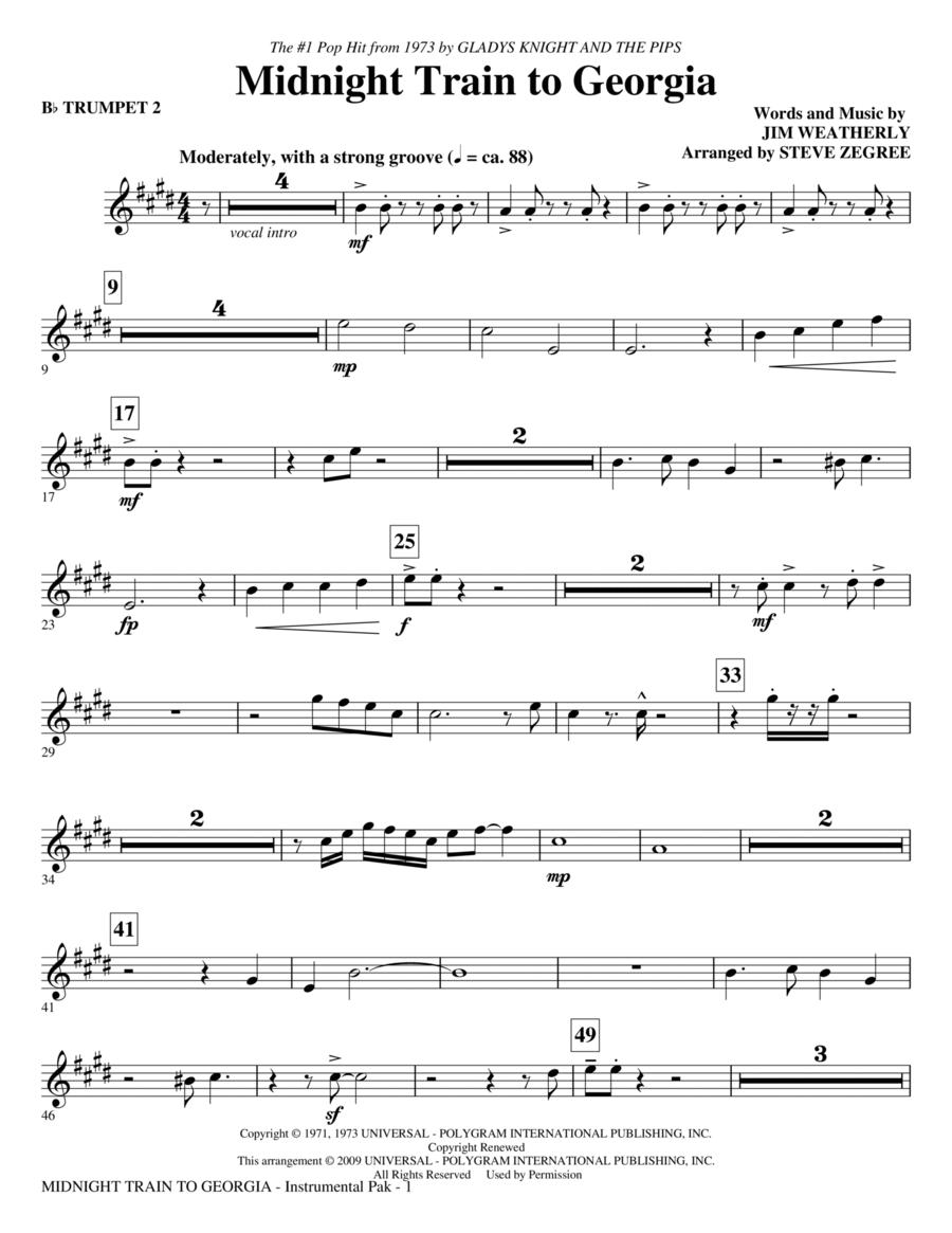 Midnight Train To Georgia - Bb Trumpet 2