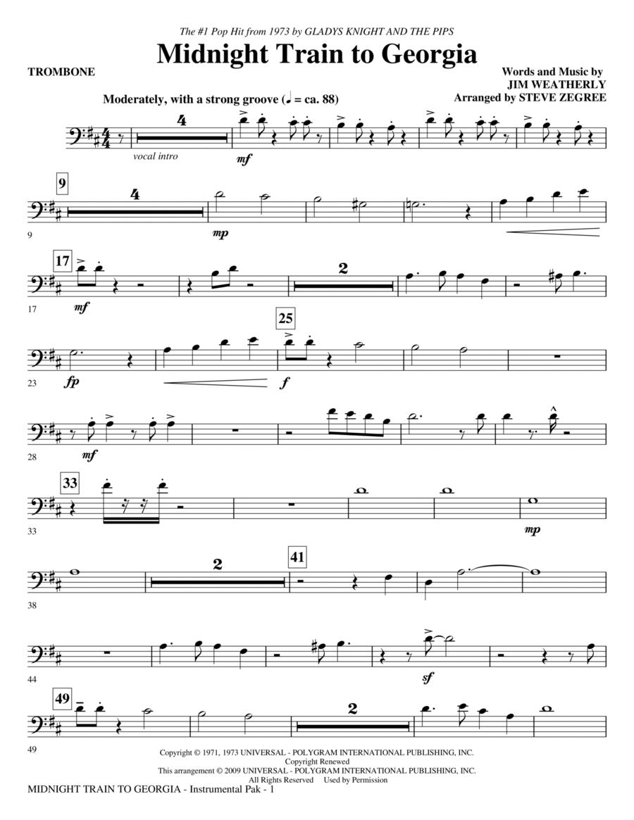 Midnight Train To Georgia - Trombone